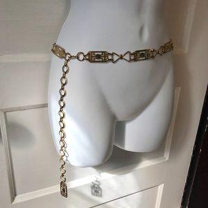 Vintage Gold Metal Link Belt